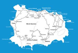 Cartina Isola d'Ischia